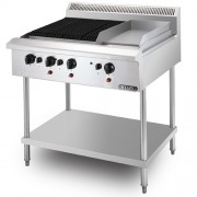 Stainless Steel Combination Char Broiler Griddle Free Standing (CB3BGG1BFS-17)