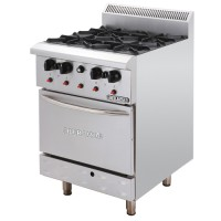 STAINLESS STEEL DELUXE RANGE OVEN WITH OPEN BURNER
