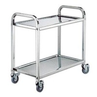 STAINLESS STEEL DINING TROLLEY - KNOCK DOWN